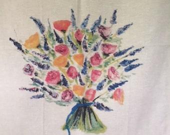 Lavender Bouquet Tea Towel