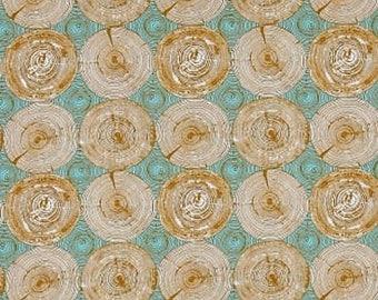 "Joel Dewberry  Free Spirit    Modernist  ""Tree Ring Bling""--Dijon  Cotton Fabric"