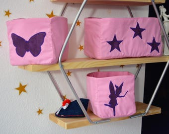 AVAILABLE * set of 3 lilac fairy baskets