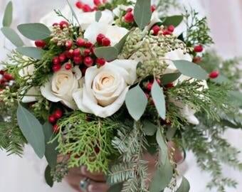 Winter/Christmas Rose Bridal Bouquet