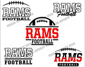 Rams Football Bundle Download Files - SVG, DXF, EPS, Silhouette Studio, Vinyl  Files, Digital Cut Files -Use with Cricut and Silhouette