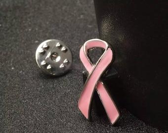 Breast Cancer Awareness Pink Ribbon Pin / Brooch / Clip