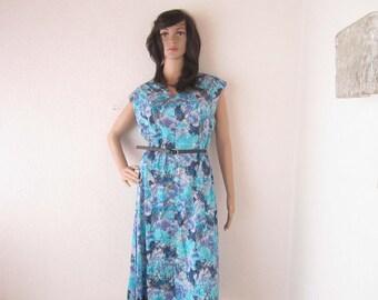 Vintage 60s dress Hans of Eger Germany dress robe cotton L