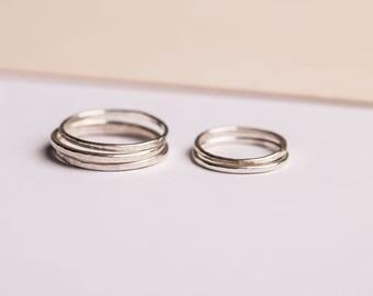 hammered - fine hammered silver ring