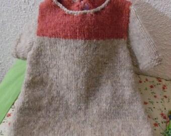 Very soft wool baby tunic