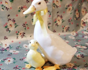 Bone China Goose Figurine