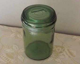 Bocal confiture. Verre.  Déco cuisine. Old glass jar. Vintage. France