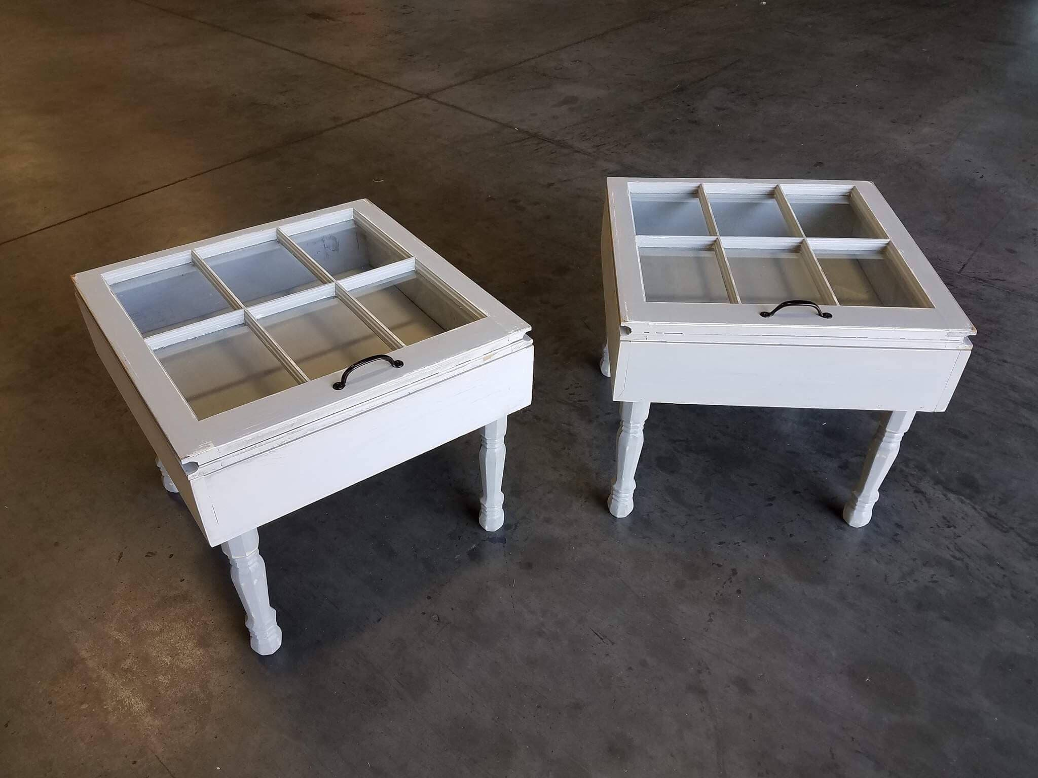 ON SALE end tables Rustic end tables shadow box tables