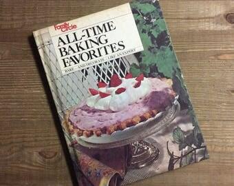 Family Circle Cookbook - Baking Cookbook - All-Time Baking Favorites - Vintage Cookbook - Hostess Gift - Cake Decorating - Baking