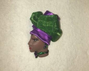 Cajun, Lady Face Pin