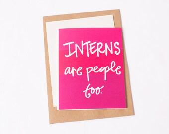 Greeting Card: Intern People