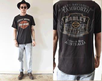 Harley Davidson Motorcycles Australia Graphic Tshirt