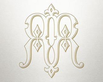 Regal Monogram Design - RR - Regal Monogram - Digital