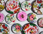 Buttons - Enamelled Cocon...