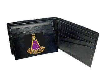 Past DISTRICT DEPUTY WALLET - Bi Fold - Top Quality Leather - Embroidered Logo