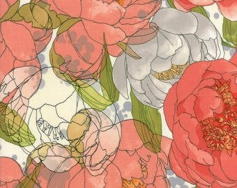 Natural Floral from the Blushing Peonies collection by Robin Pickens for Moda Fabrics, Choose the Cut, 48610 11