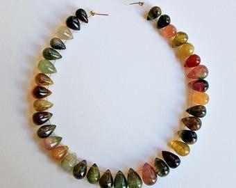 Natural Tourmaline Teardrop Briolette Loose Beads 9x6mm, Natural Gemstone Tourmaline Beads, Semi precious Gemstone Bead, Wholesale Beads