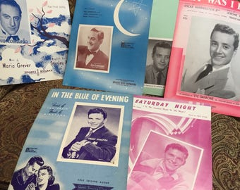 Sheet Music from the 1940's - Frank Sinatra, Vic Damone and Guy Lombardo
