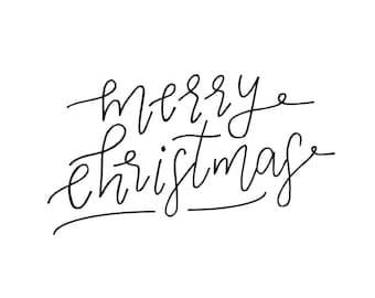 Merry Christmas 8x10 Handlettered Digital Print