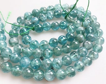 Beautiful Genuine Apatite Round Gemstone Loose Beads Size 6mm/8mm 15.5'' Long Per Strand. R-S-APA-0382