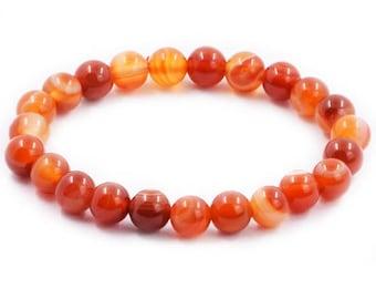 Agate Bracelet + 10mm + Natural Organic Stone + Beads