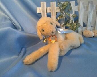 Easter Treasures ***** Vintage Steiff Lamby, lying, all ID, 25 cm, good condition, RARE !