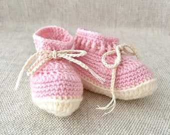 Baby Girl Booties, Handmade Baby Shoes, Knit Baby Clothes, New Baby Gift, Infant Clothing, Crib Shoes, Baby Shower Gift, Keepsake Gift