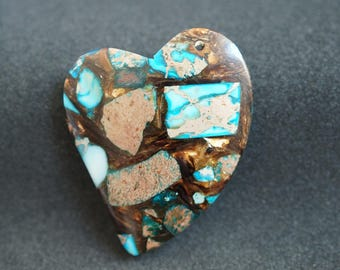 Multicolor heart shape PENDANT GEMSTONE