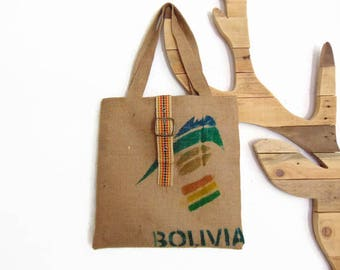Recycled jute multicolor women, accessory by Pleasant Home canvas tote bag