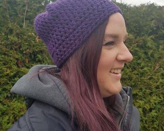 Purple Jewel tones with sparkle Women's  beanie