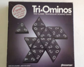 Vintage 1993 Anniversary Edition TRI-OMINOS by Pressman