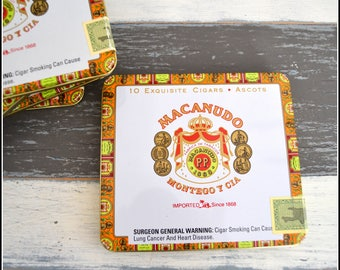 Macanudo Cigar Tin - Square Cigar Tin - Square Tin