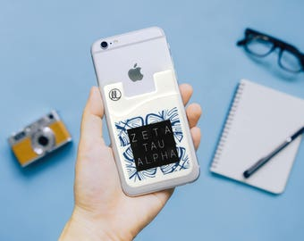 Zeta Tau Alpha Jungle Leaf Phone Wallet