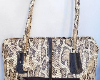 Piton leather handbag