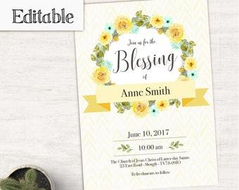 Blessing Invitation Etsy