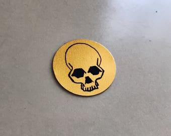 Gold Skull Sticker (Set of 2)