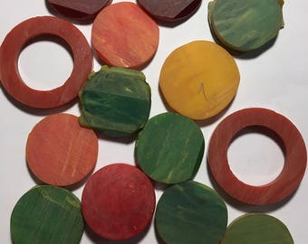 14 vintage bakelite pieces - unfinished