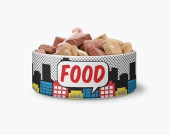comic ceramic pet bowl dog bowl ceramic pet bowl bowl - Dog Bowls