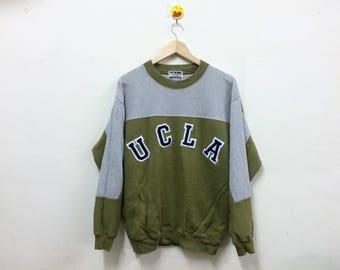 Rare!!! Vintage UCLA Sweatshirt Spellout Crewneck Pullover University Of California Los Angeles