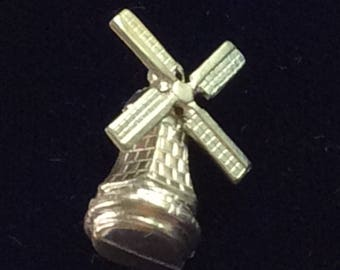 Sterling silver Dutch windmill charm vintage # 126s