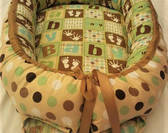 Baby Nest / Babynest 100% cotton baby shower gift, soft bed, sleeping bag, play mat, travel bed
