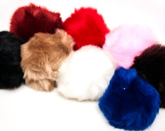 "Bunny Rabbit Tail 10 cm (4"") Soft Fluffy Faux Fur with Detachable Plug In Various Colours."