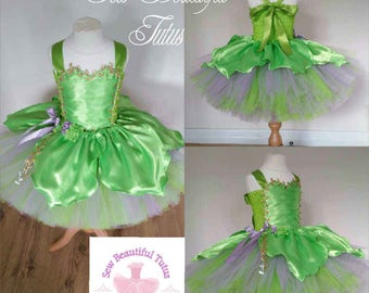 Fairy inspired tutu dress - Tinkerbell - Magical - Fun Party Outfit Cute Birthday Photo shoot