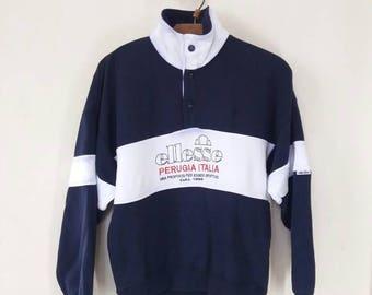 Vintage Ellesse Perugia Italia Sweatshirt Pullover Medium size
