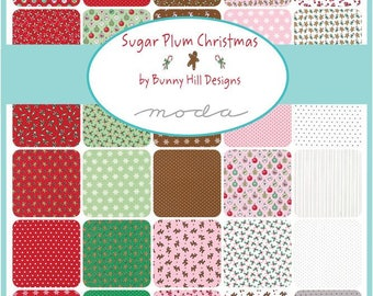 Sugar Plum by Bunny Hill Designs Christmas Jelly Roll Clearance