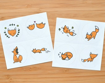 Fox Sticker Squares