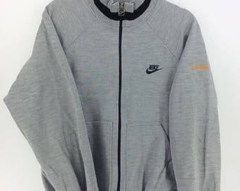 Vintage 90's Nike Air Grey Sport Classic Design Skate Sweat Shirt Sweater Varsity Jacket Size XL #A819