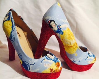 Disney Snow White shoes / heels* * * uk sizes 3-8 * * *