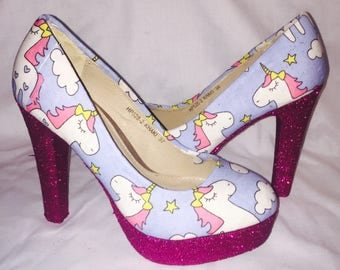 Unicorn shoes / heels * * * sizes uk 3-8