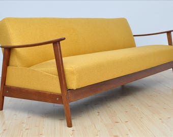 Vintage DANISH 3 Seat Sofa Design Mid Century Fully Restored 1960